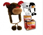 Reindeer, Beer and Penguin Plush Novelty Hats