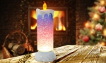 LED Candle Light With Swirling Glitter Effect