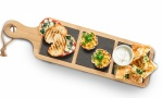 18*5'' Wooden Serving Tray With Handle & 3 Slate Sections