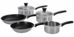Tefal Banquet 5 Piece Saucepan Set - Stainless Steel