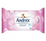 Andrex Flushable Toilet Tissue Washlets - Pack of 12 - Available in Classic Clean and Gentle Clean