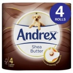 Andrex Shea Butter Toilet Tissues - With and Without Andrex Gentle Clean Washlets