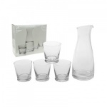 B&Co Carafe  and 4 Glasses Set
