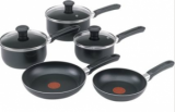Tefal Essentials 5 Piece Non Stick Saucepan Set - Black