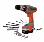 terratek Cordless Drill with 13pc Accessory Kit