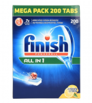 200 FINISH LEMON DISHWASHER TABLETS