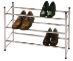 3 Tier Metal Extending Stackable Shoe Rack