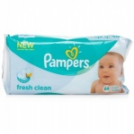 Pampers Fresh Clean Wipes 12 Packs of 64 Wipes