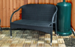 Two Person Rattan Bench