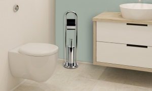 Harewood Tall Toilet Roll and Toilet Brush Holder
