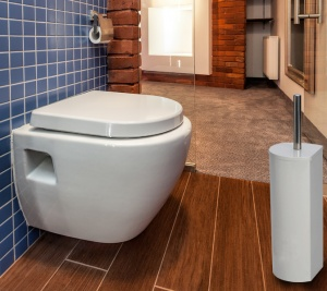 Harewood Corner Toilet Brush and Holder - Available in Two Finishes