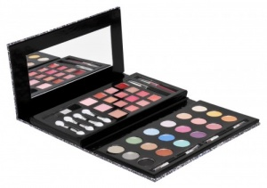 Urban Beauty 43Pc Glitter Clutch Cosmetic Set - Available in Anthracite or Pink