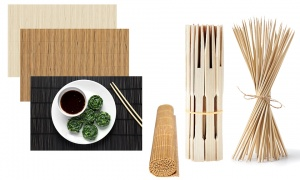 Bamboo Place Mat and Skewers