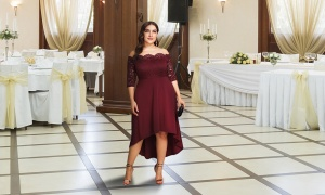 Flo Midi party dress – wine