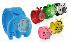 Fashion Animal Zoo Slap Watches Silicone Wrist Watch Boys Girls Children Kids